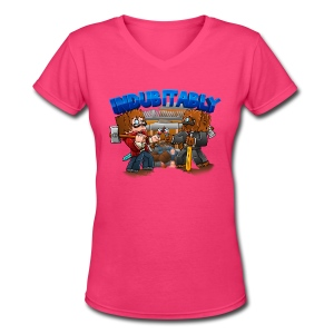 Indubitably T-Shirt (F) - Women's V-Neck T-Shirt