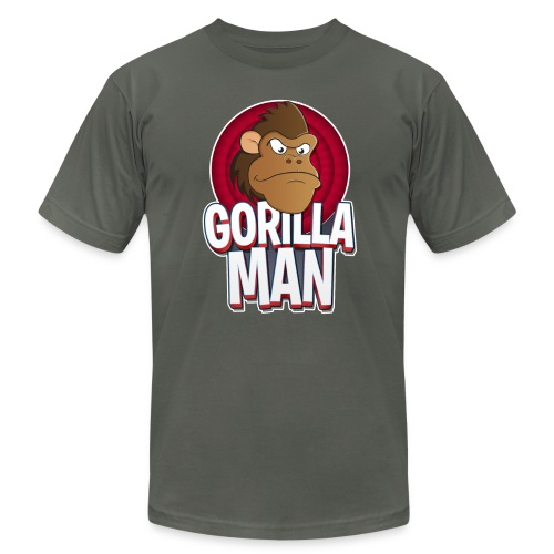 Gorilla Man Premium - Men's T-Shirt by American Apparel