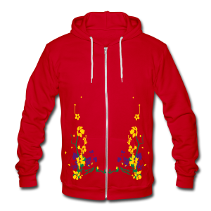spring has sprung - Unisex Fleece Zip Hoodie by American Apparel