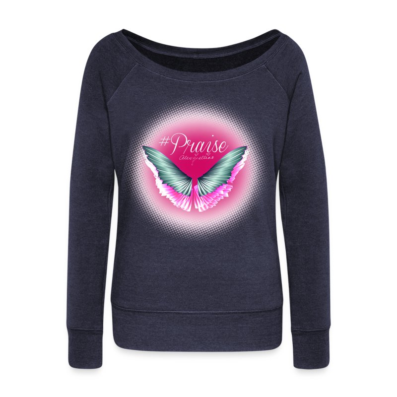 Praise Angel Wing Sweatshirt by Alexis Bellino - Women's Wideneck Sweatshirt