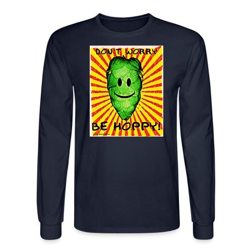 Don't Worry Be Hoppy Men's Long Sleeve  T-Shirt - Men's Long Sleeve T-Shirt