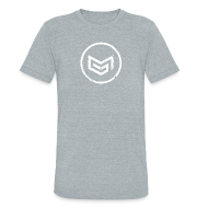 T-Shirts ~ Unisex Tri-Blend T-Shirt ~ MadGlory Distorted Logo White