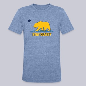 Stay Classy Bear - Unisex Tri-Blend T-Shirt by American Apparel