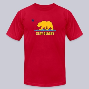 Stay Classy Bear - Men's T-Shirt by American Apparel