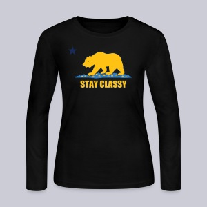 Stay Classy Bear - Women's Long Sleeve Jersey T-Shirt