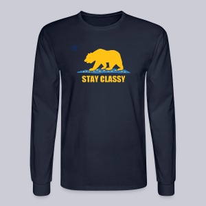 Stay Classy Bear - Men's Long Sleeve T-Shirt