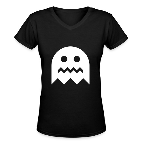 Pacman Ghost - Women's V-Neck T-Shirt