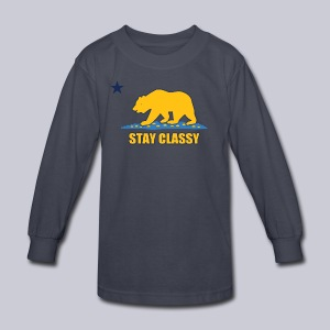 Stay Classy Bear - Kids' Long Sleeve T-Shirt