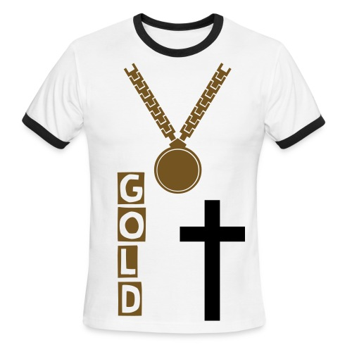Gold Chain Swagg Tee - Men's Ringer T-Shirt