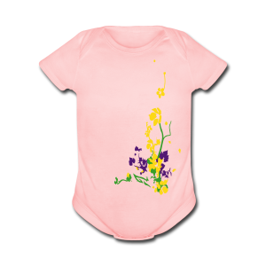 Spring has sprung/front and back - Short Sleeve Baby Bodysuit