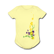 Baby Bodysuits ~ Baby Short Sleeve One Piece ~ Spring has sprung/front and back