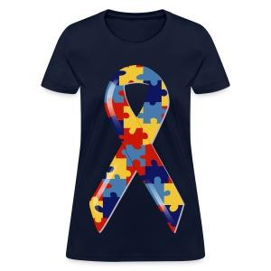 Autism Awarness Ribbon - Women's T-Shirt