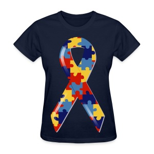 Autism Awarness Ribbon - Women's T-Shirt