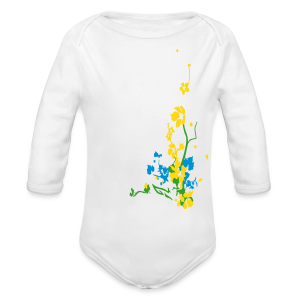 Spring has sprung/front and back - Long Sleeve Baby Bodysuit