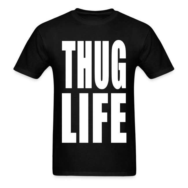 Official Grind Brand Tee Shirts Thug Life Mens T Shirt