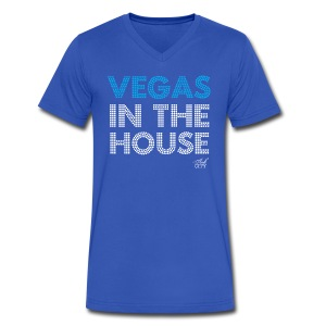 Men: Vegas in the house V-Neck - Men's V-Neck T-Shirt by Canvas