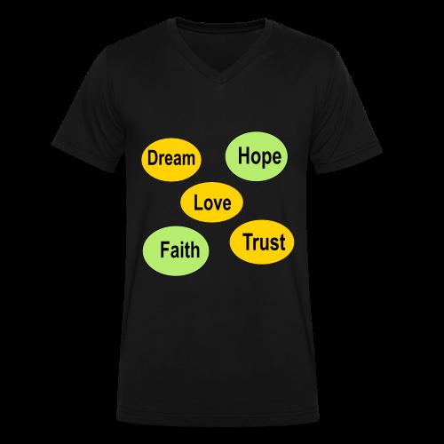 faith hope love dream and trust - Men's V-Neck T-Shirt by Canvas
