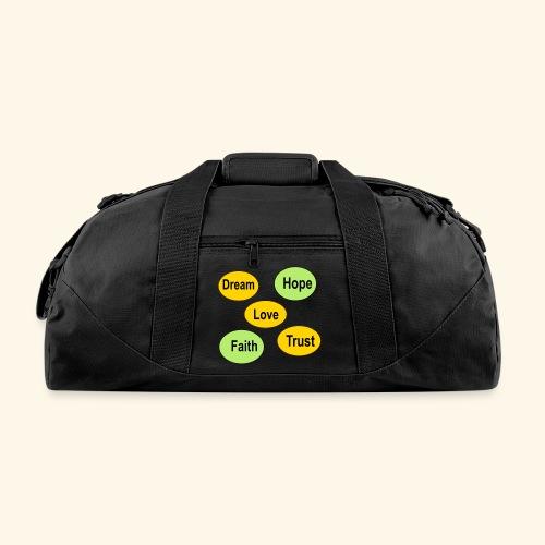 faith hope love dream and trust - Duffel Bag