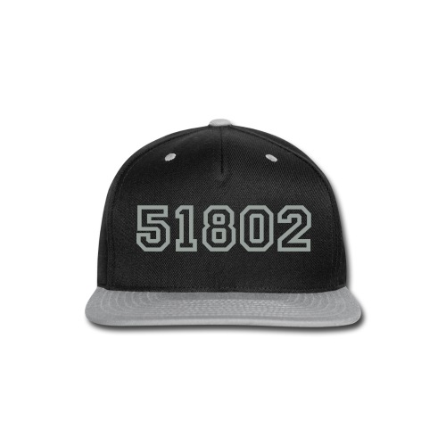 51802 Varsity Hat Silver/Black - Snap-back Baseball Cap
