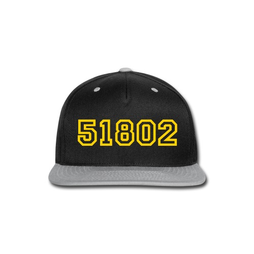 51802 Varsity Hat Yellow/Purple - Snap-back Baseball Cap
