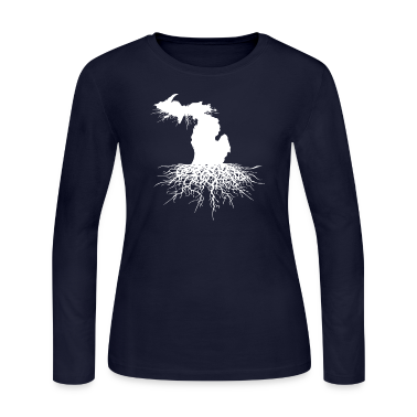 Michigan Roots Down with Detroit Long Sleeve Shirts