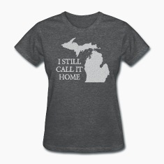 I Still Call It Home Down with Detroit Women's T-Shirts