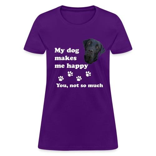 dog_happy - Women's T-Shirt