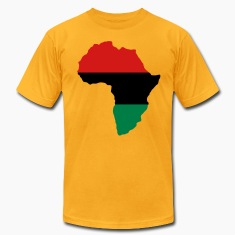 Red, Black & Green Africa Flag T-Shirts