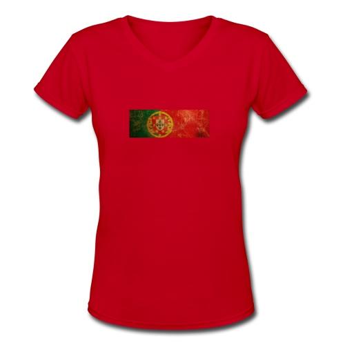 Women's V-Neck T-Shirt - Portuguese,Portugal
