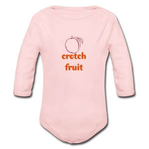 Crotch Fruit - Long Sleeve Baby Bodysuit