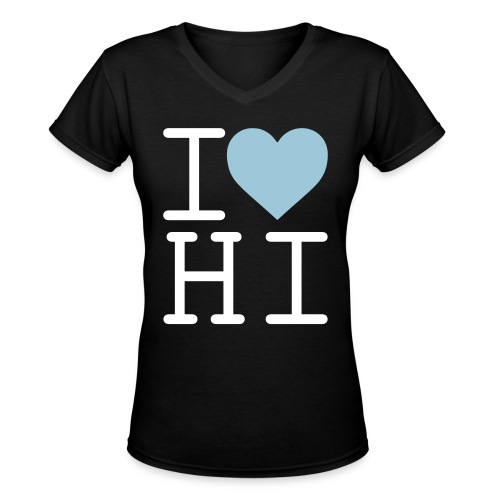 I Heart Hi - Women's V-Neck T-Shirt