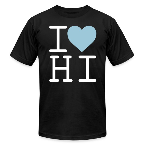 I Heart Hi - Men's T-Shirt by American Apparel