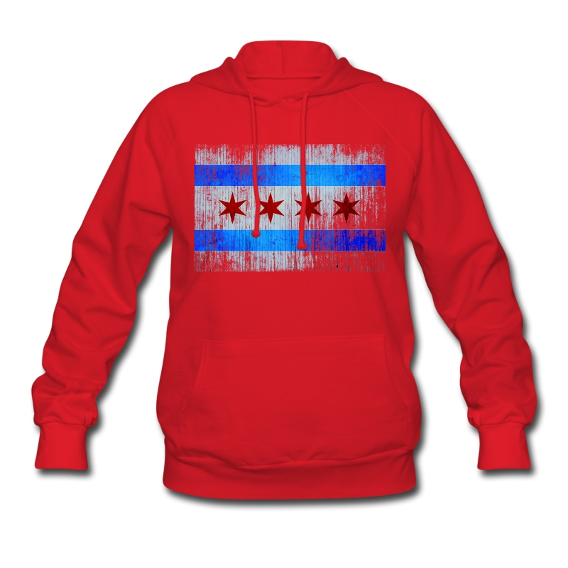 Vintage Distressed Classic Chicago City Flag Hoodie