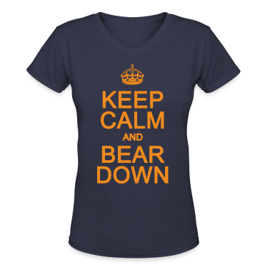Keep Calm and Bear Down Chicago Hoody  Women's T-S
