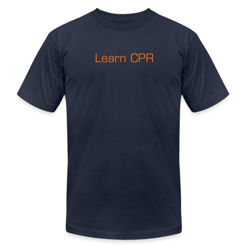 Men's Fine Jersey T-Shirt - Show your enthusiasm and get others to see the importance of learning CPR.
