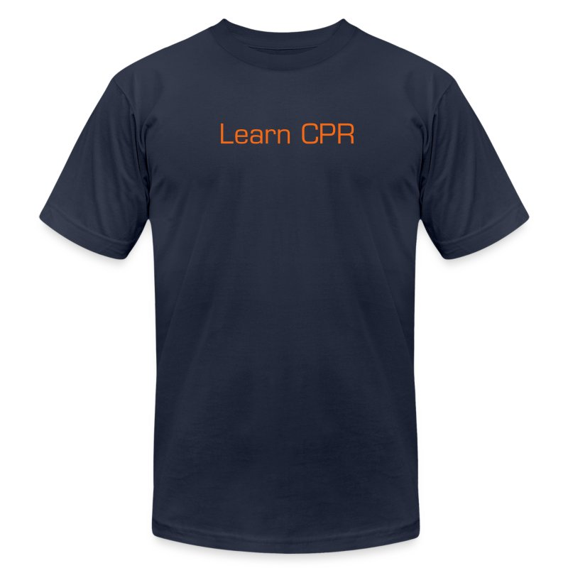 Men's T-Shirt by American Apparel - Show your enthusiasm and get others to see the importance of learning CPR.