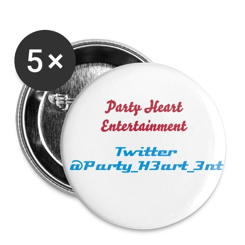 Party Heart Entertainment and Twitter name - Large Buttons
