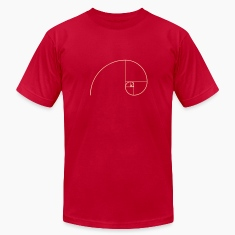 Golden Ratio, Fibonacci, Phi, spiral, geometry T-Shirts