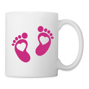 Baby - footprint - heart Bottles & Mugs