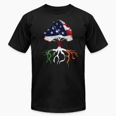 USA Irish Roots Flag Irish Celtic Apparel  T-Shirts