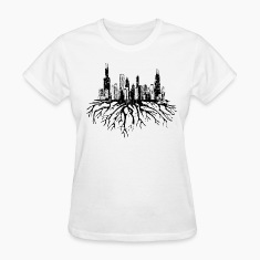 New Chicago Skyline Roots Chicago Hoody  Women's T-Shirts