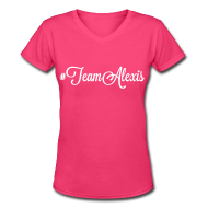 T-Shirts ~ Women's V-Neck T-Shirt ~ Team Alexis Fitted Tee by Alexis Bellino