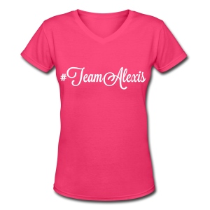 Team Alexis Fitted Tee by Alexis Bellino - Women's V-Neck T-Shirt