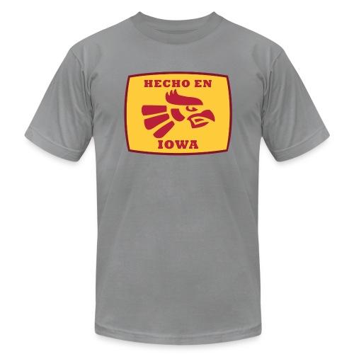 Hecho En Iowa St. - Cardinal, Gold - Men's Fine Jersey T-Shirt