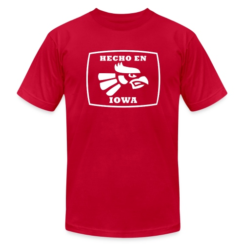 Hecho En Iowa St. - White - Men's Fine Jersey T-Shirt