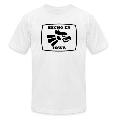 Hecho En Iowa St. - Black - Men's Fine Jersey T-Shirt