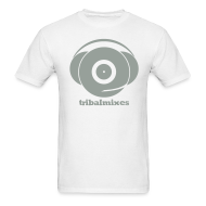 T-Shirts ~ Men's T-Shirt ~ Classic Full Size Logo + Tribalmixes text (design 1, Grey)