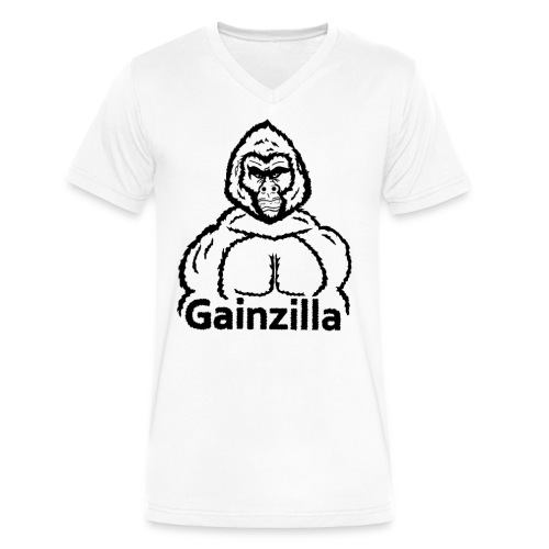 Gainzilla - Men's V-Neck T-Shirt by Canvas