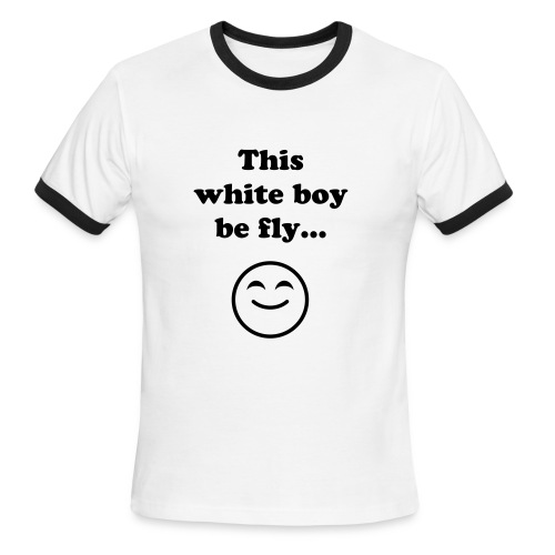 Fly White Boy - Men's Ringer T-Shirt