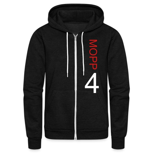 MOPP4 Zip Up Fleece by American Apparel - Unisex Fleece Zip Hoodie